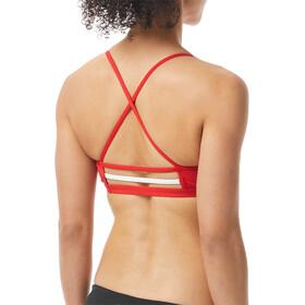 TYR Solid Trinity Bikini Top Women, red